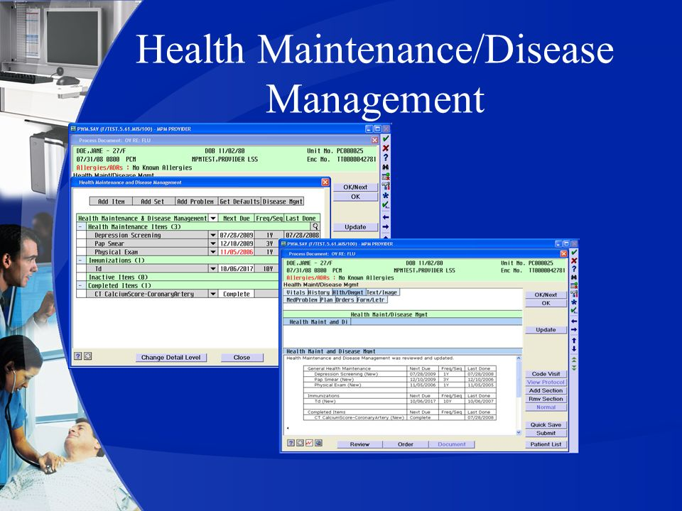Health Maintenance/Disease Management