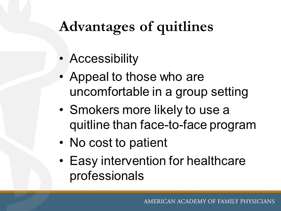 Advantages of quitlines