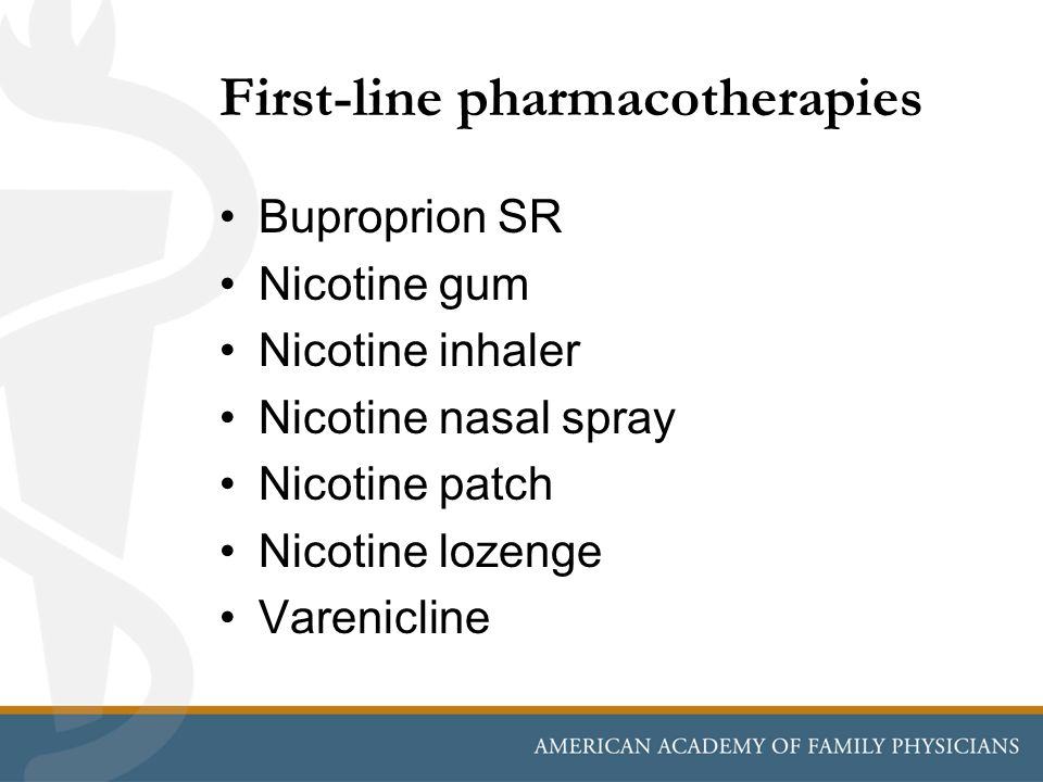 First-line pharmacotherapies