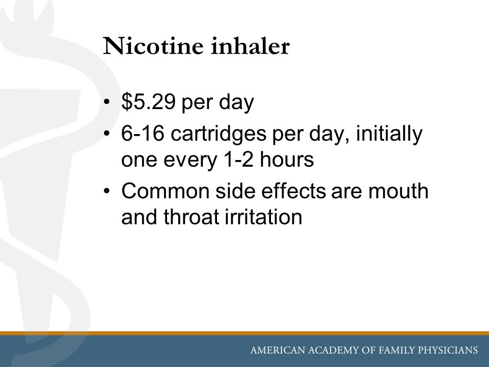 Nicotine inhaler $5.29 per day