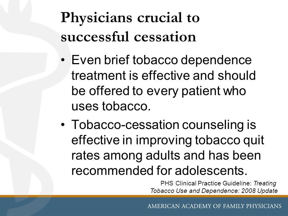 Physicians crucial to successful cessation