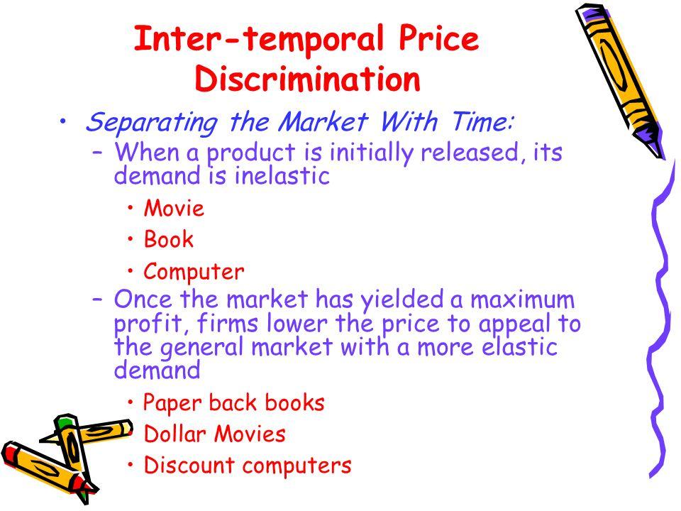 Inter-temporal Price Discrimination