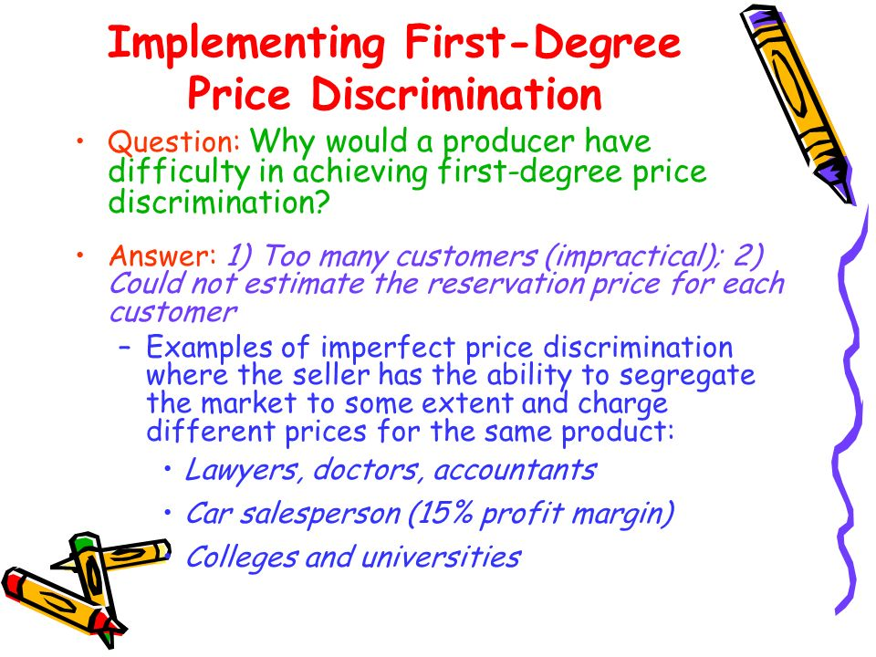 Implementing First-Degree Price Discrimination