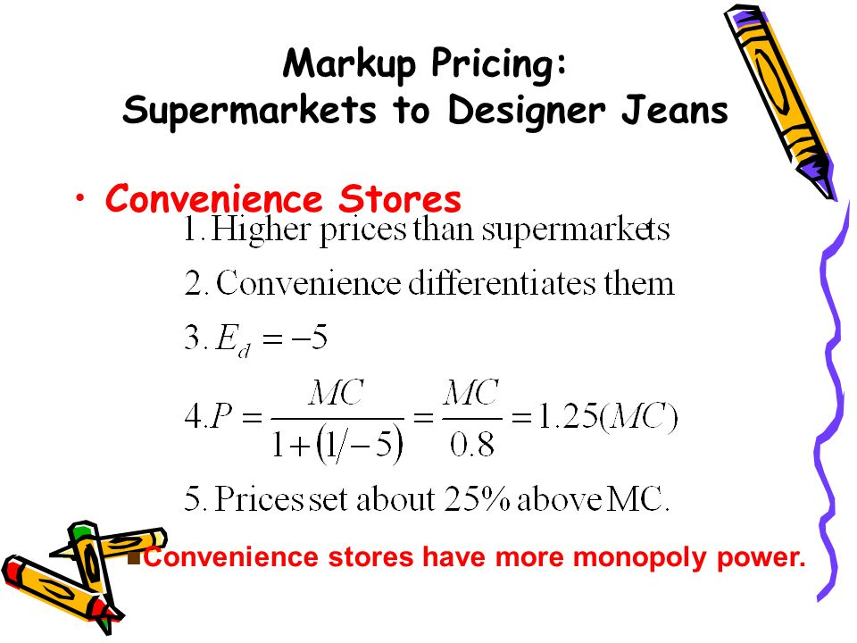 Markup Pricing: Supermarkets to Designer Jeans