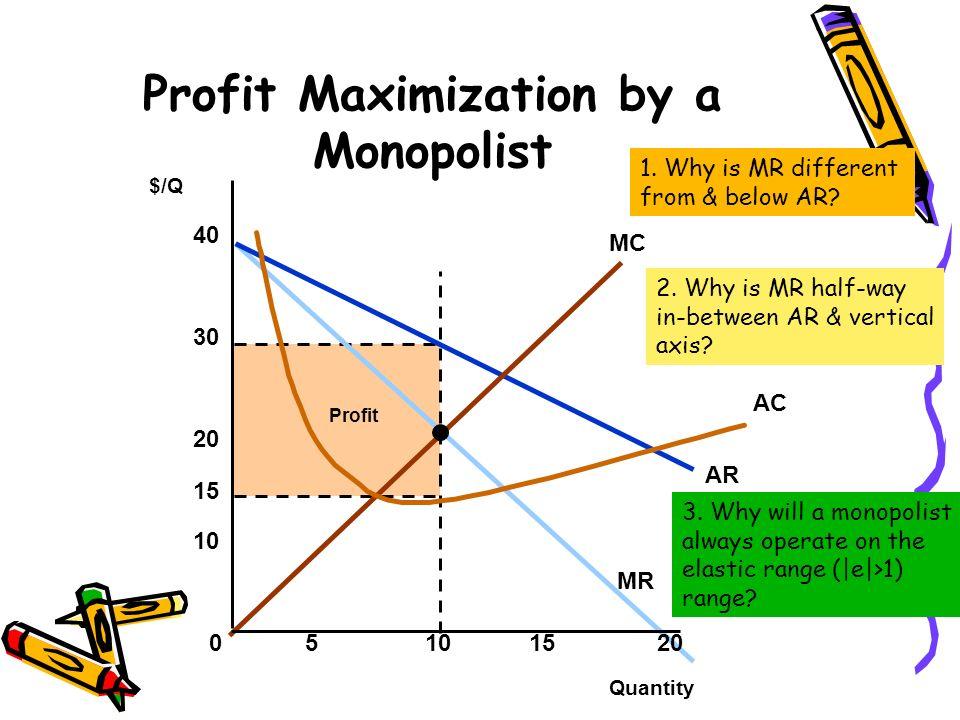 Profit Maximization by a Monopolist