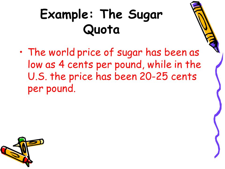 Example: The Sugar Quota