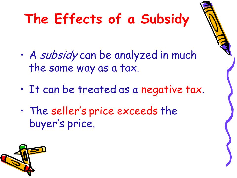 The Effects of a Subsidy