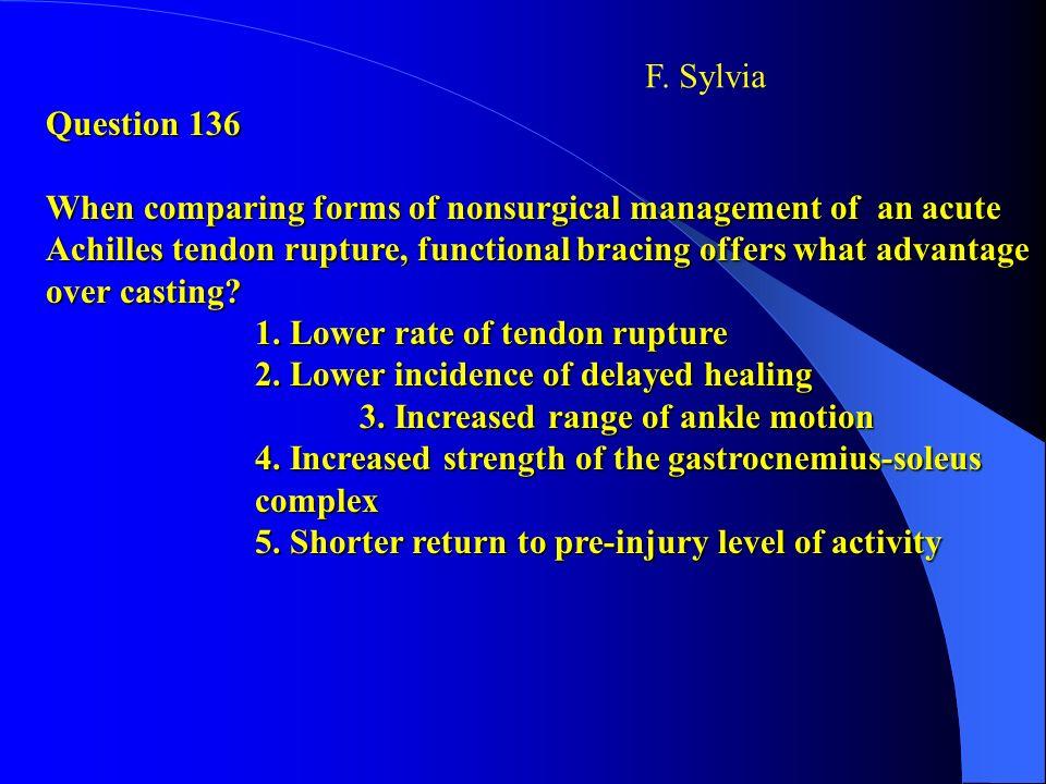 F. Sylvia Question 136.