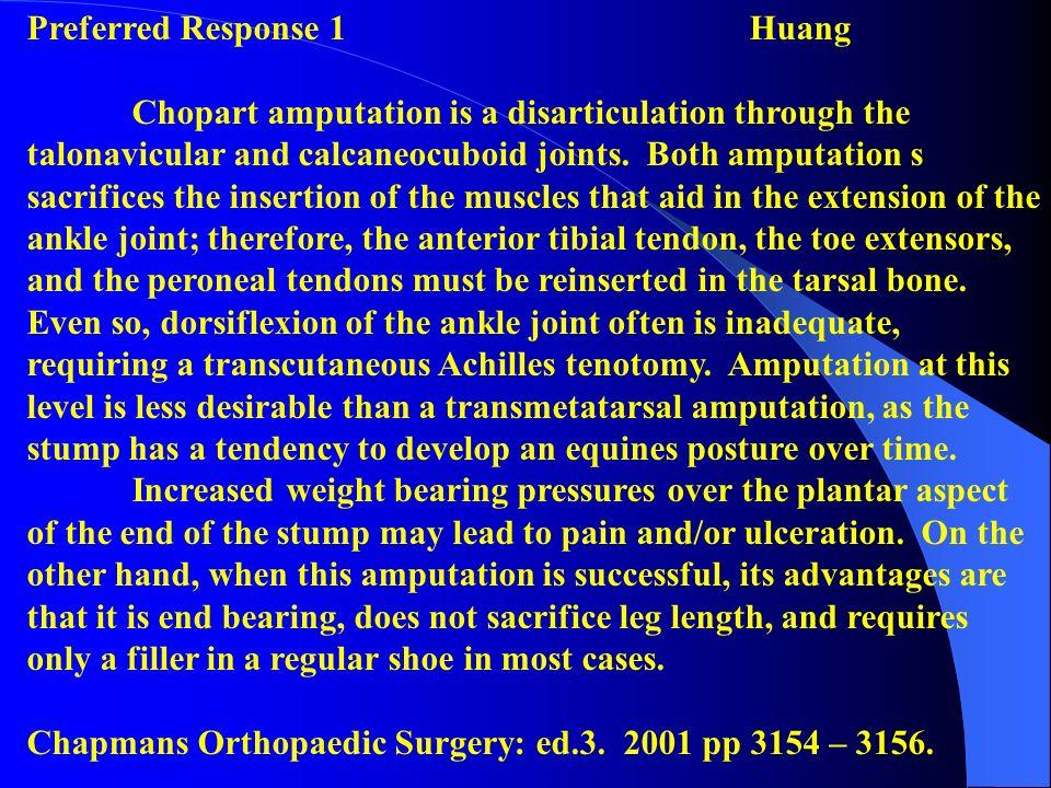 Preferred Response 1 Huang