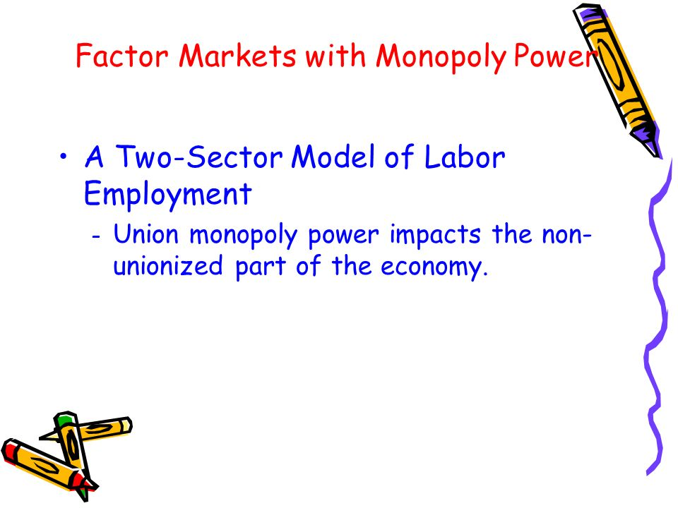 Factor Markets with Monopoly Power