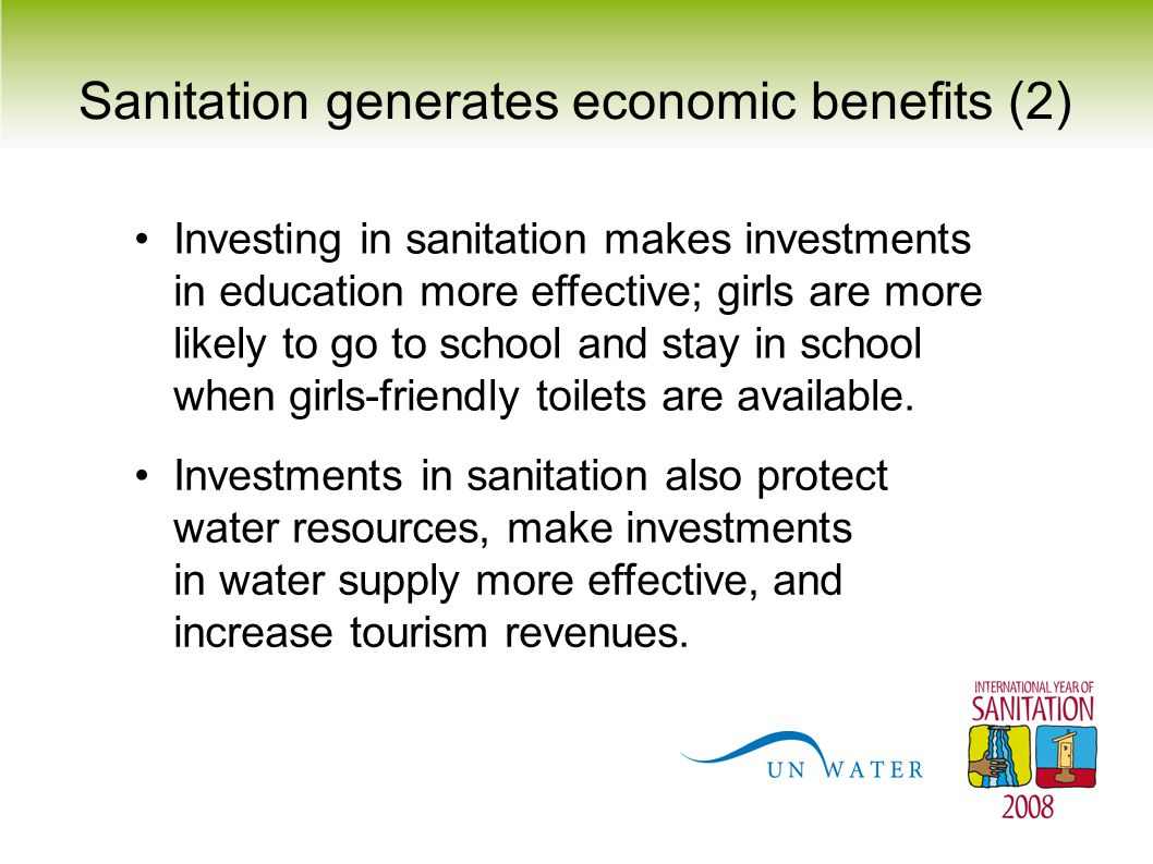 Sanitation generates economic benefits (2)