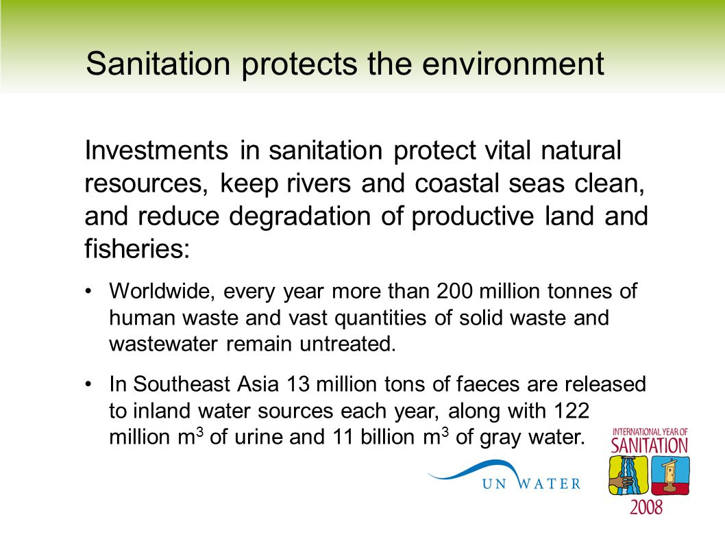 Sanitation protects the environment