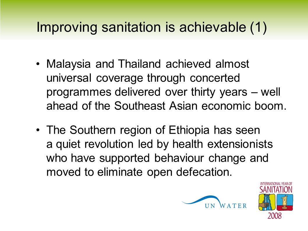 Improving sanitation is achievable (1)