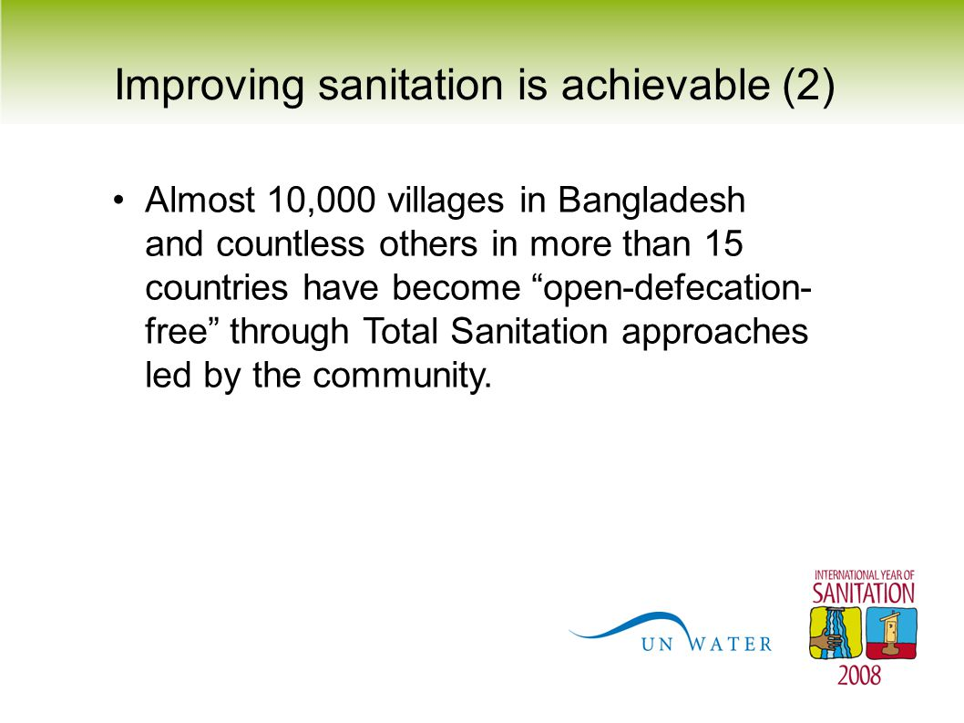 Improving sanitation is achievable (2)