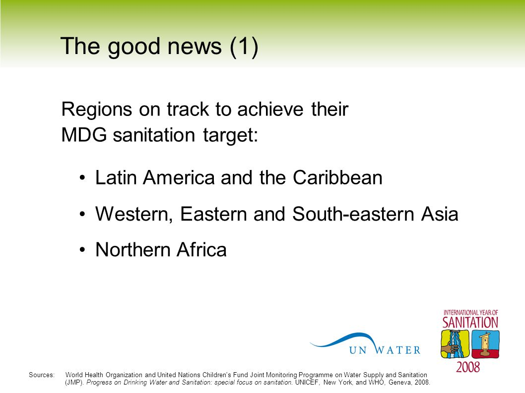 The good news (1) Regions on track to achieve their