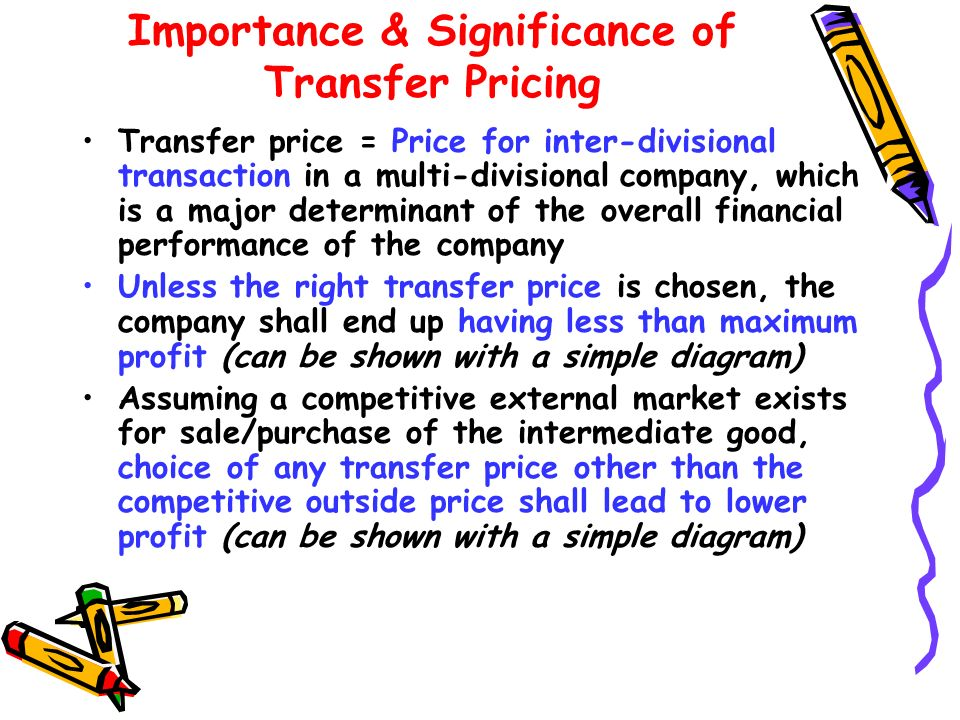 Importance & Significance of Transfer Pricing