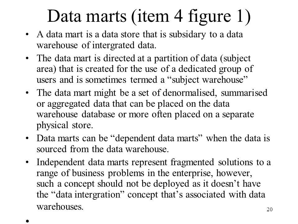 Data marts (item 4 figure 1)