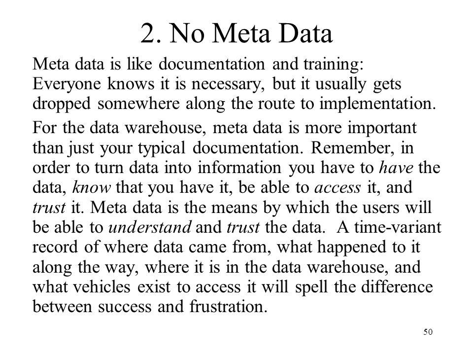 2. No Meta Data