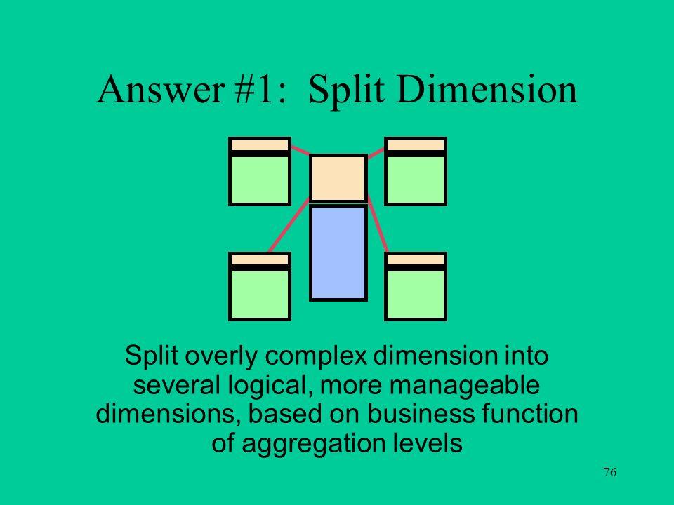 Answer #1: Split Dimension