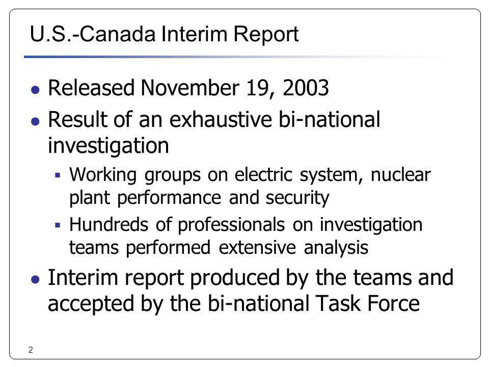 U.S.-Canada Interim Report