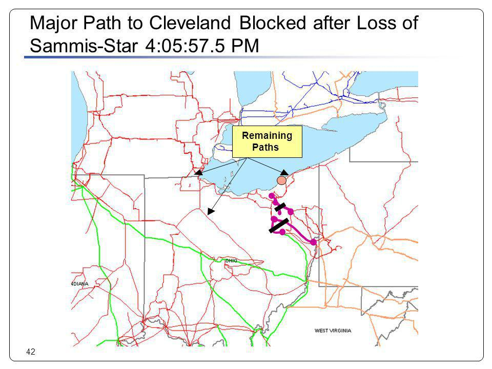 Major Path to Cleveland Blocked after Loss of Sammis-Star 4:05:57.5 PM
