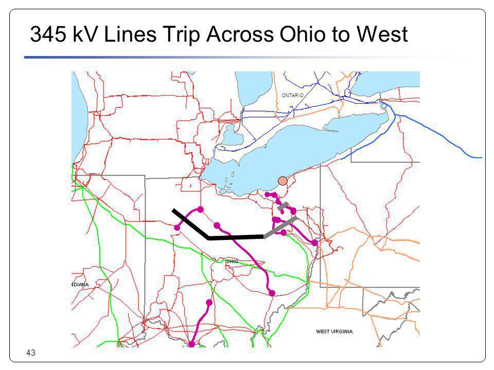 345 kV Lines Trip Across Ohio to West