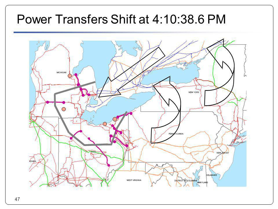 Power Transfers Shift at 4:10:38.6 PM