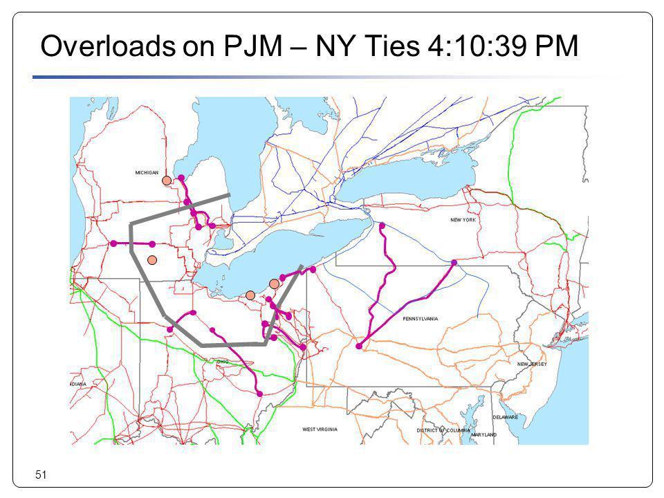 Overloads on PJM – NY Ties 4:10:39 PM