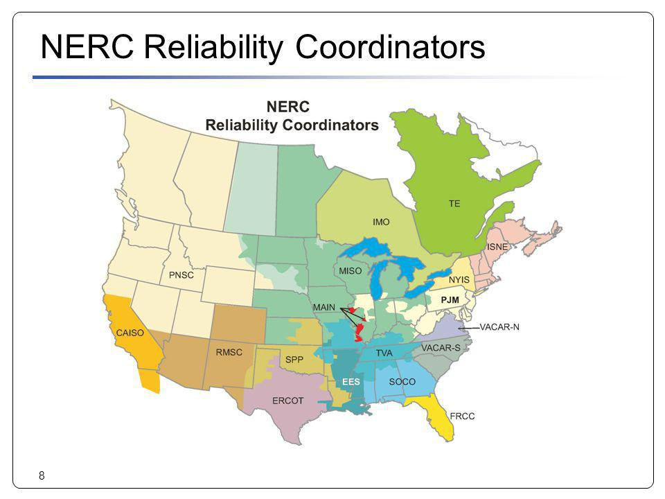 NERC Reliability Coordinators