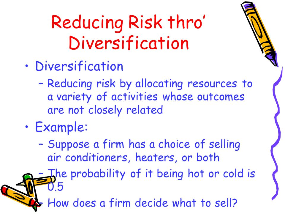 Reducing Risk thro' Diversification