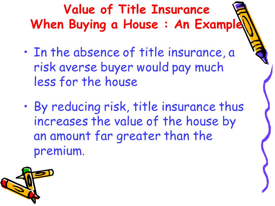 Value of Title Insurance When Buying a House : An Example