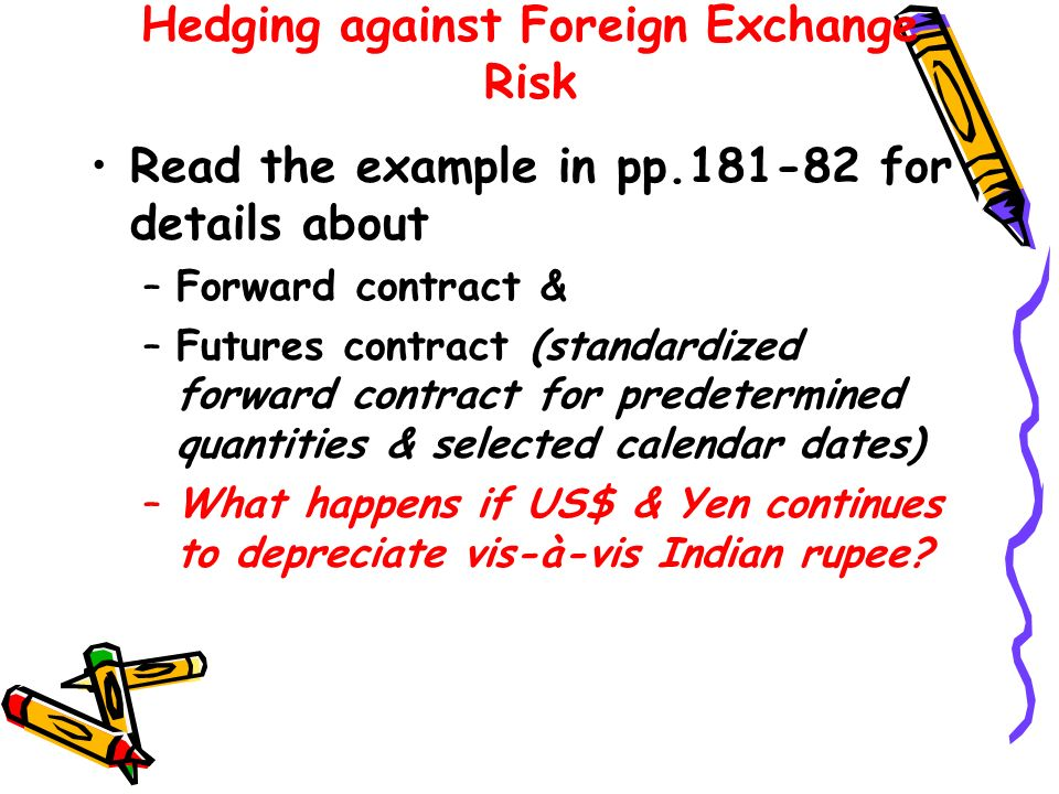 Hedging against Foreign Exchange Risk