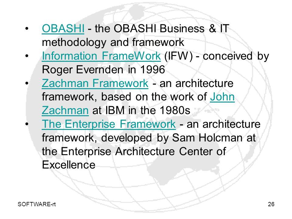 OBASHI - the OBASHI Business & IT methodology and framework
