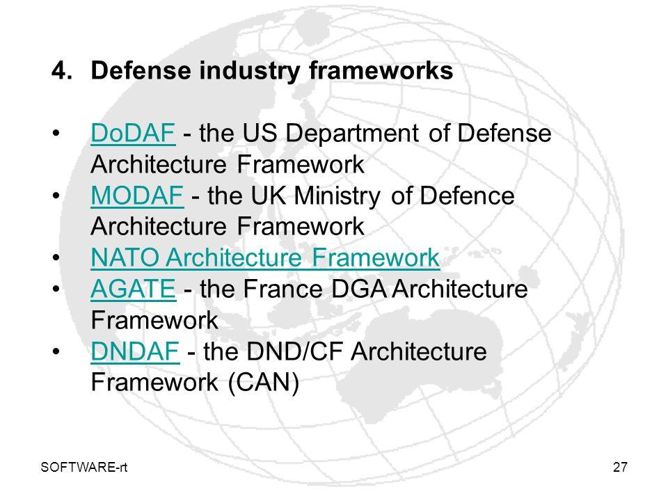 Defense industry frameworks