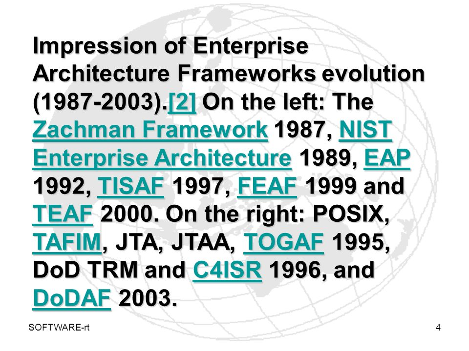 Impression of Enterprise Architecture Frameworks evolution (1987-2003)