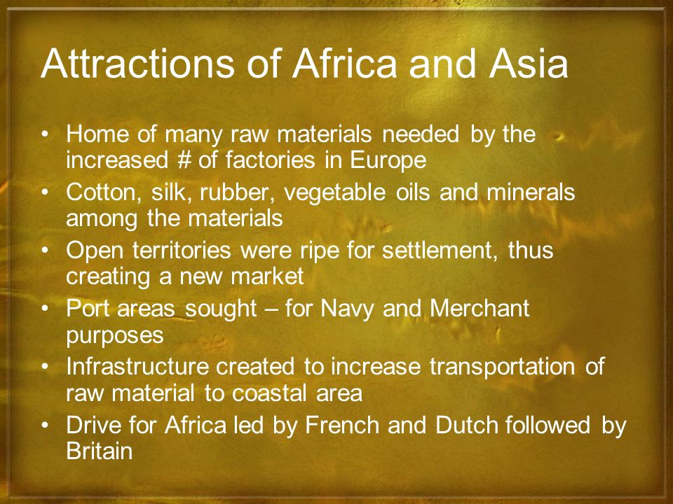 Attractions of Africa and Asia