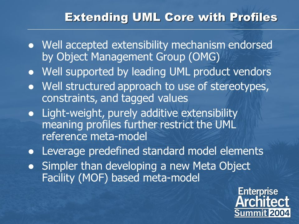 Extending UML Core with Profiles
