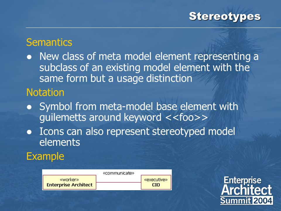 Stereotypes Semantics