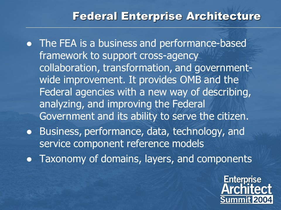 Federal Enterprise Architecture