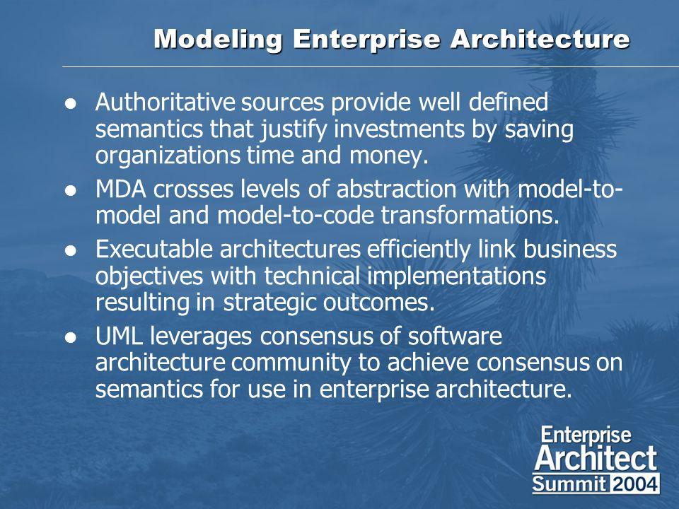 Modeling Enterprise Architecture