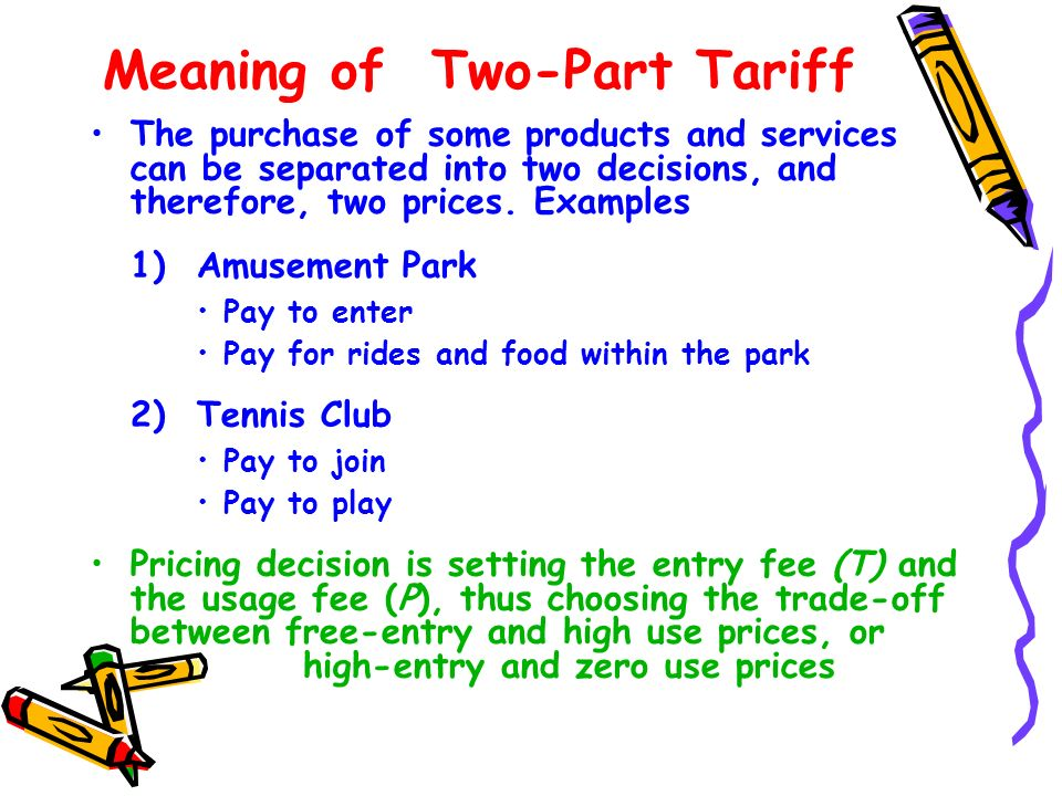 Meaning of Two-Part Tariff