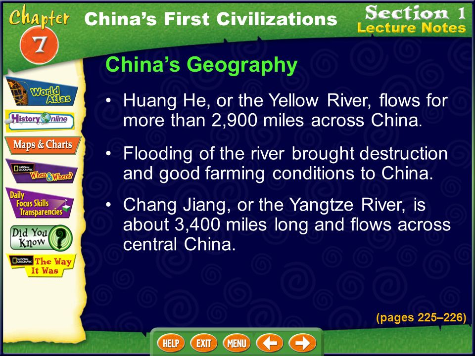 China's Geography China's First Civilizations