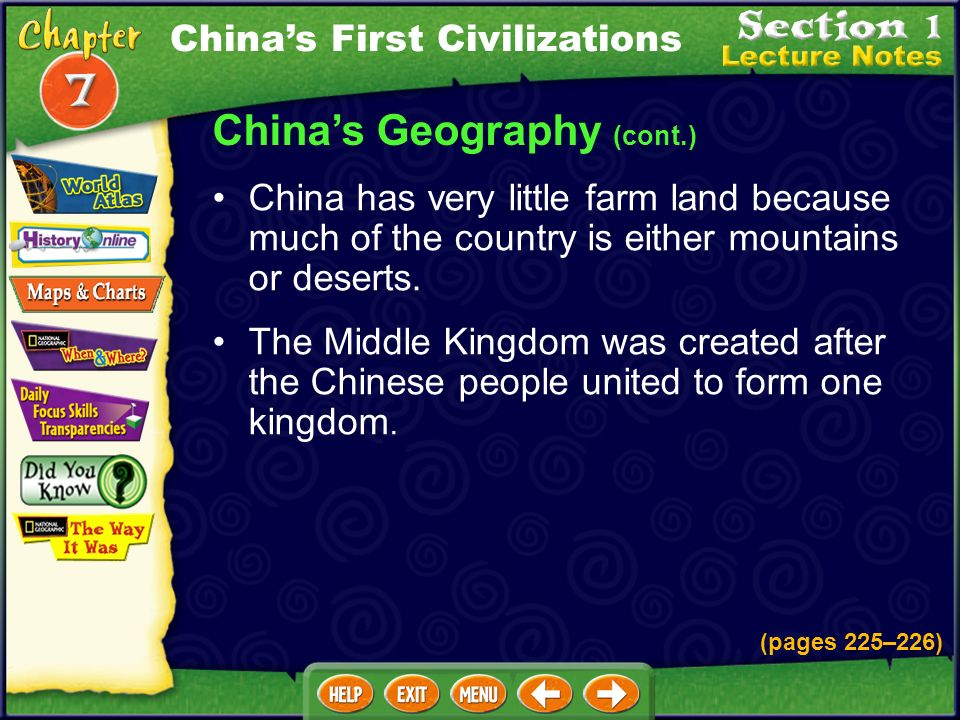 China's Geography (cont.)