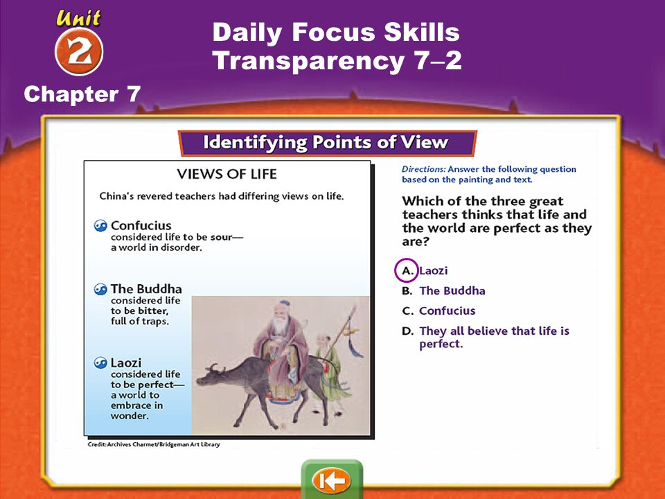 Daily Focus Skills Transparency 7–2