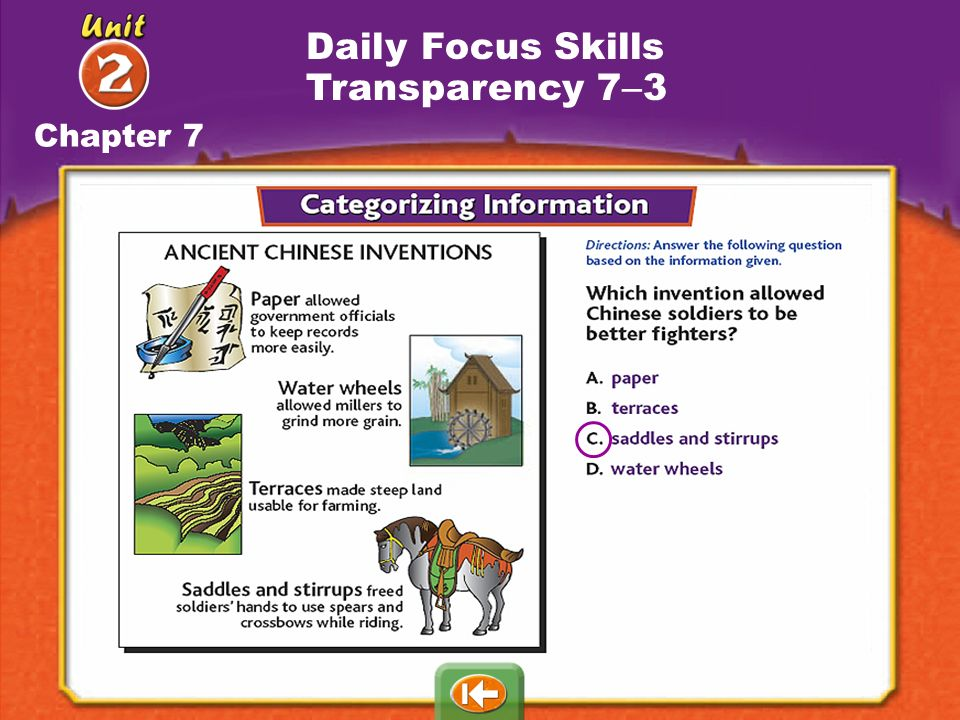 Daily Focus Skills Transparency 7–3