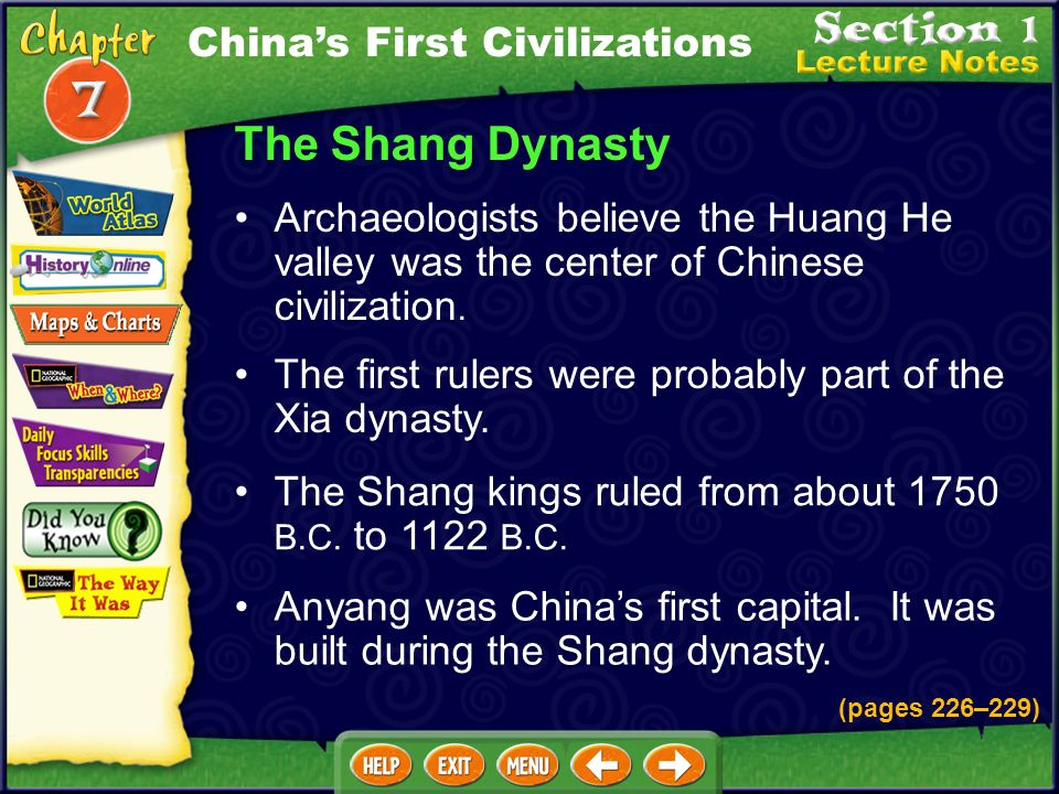 The Shang Dynasty China's First Civilizations