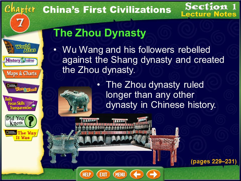 The Zhou Dynasty China's First Civilizations