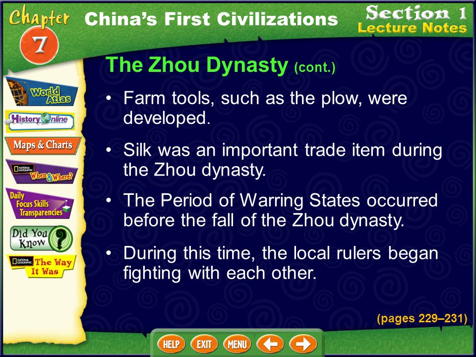 The Zhou Dynasty (cont.)