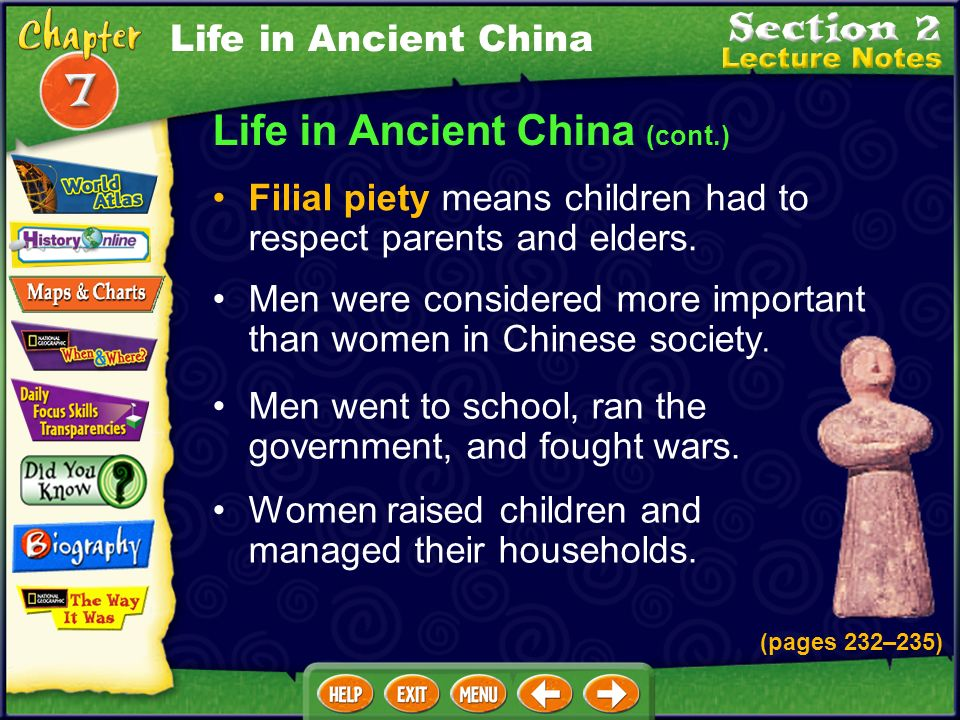 Life in Ancient China (cont.)