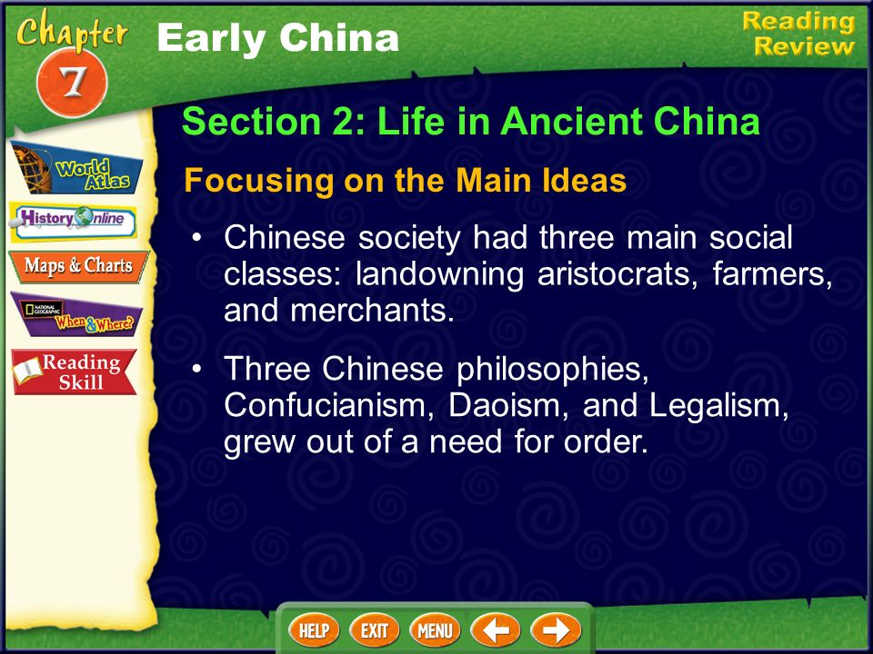Section 2: Life in Ancient China